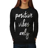 Positive Vibes Women Long Sleeve T-shirt NEW | Wellcoda