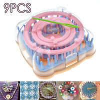 9pcs/Set Knit Knitting Loom Crochet Flower Wool Yarn Needle Home Craft Kit DIY