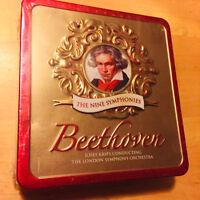BEETHOVEN - The Nine Symphonies Tin Case London Symphony Orchestra 5 CD SET NEW