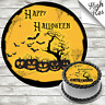 HALLOWEEN EDIBLE ROUND BIRTHDAY CAKE TOPPER DECORATION PERSONALISED