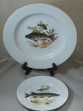 Bareuther Waldsassen Fish Serving Bowl Dish Platter Salad Plate Bavaria Germany