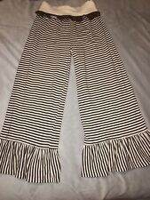 Girls Size 7 Persnickety Brown And Cream Colored Bell Pants