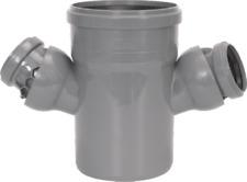 HT - Rohr  Doppelabzweig 100/ 50 / 50  stufenlos verstellbar  45° - 88°