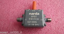 1pc S213Ds narda 1-18Ghz 3W Spst Sma Pin Single pole single coaxial switch