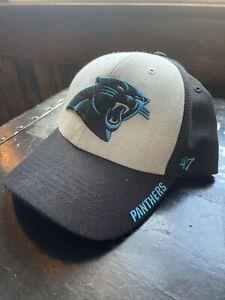 Carolina Panthers NFL 47 Brand Adjustable Hat NWOT Grey and Black