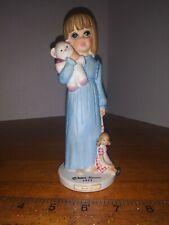 Margaret Keane Bedtime figurine, 1977 by Dave Grossman Designs, big eyed girl