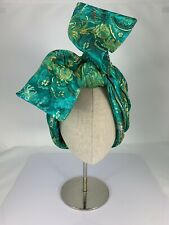 NWT Kokin, Asia De Cuba Chinese Print Silk Twistee Turban, Hair Accessory, Green