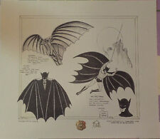 "BATMAN ""DAVINCI"" SIGNED BOB KANE DUO TONE CONCEPT ART W COA"