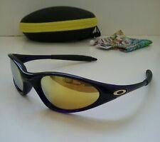 OAKLEY MINUTE 1.0 CRYSTAL BLUE / 24K GOLD RARE Sunglasses xx twenty splice plate