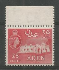 ADEN 1953-63  QEII, 25c Rose-red,  Mosque, SG55a, Mint