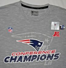 Mens BNWT Retro Gray Fanatics NFL New England PATRIOTS Super Bowl 52 T Shirt L