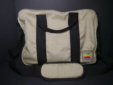 Vintage 1980's Apple Canvas Messenger Bag w/ Rainbow Apple Logo Laptop Case RARE