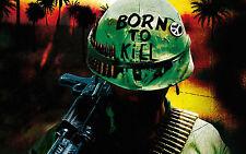Framed Print - Born To Kill! US Marine (Picture Poster Art Vietnam War Soldier)