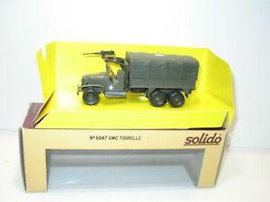 Solido Truck GMC Tarpaulin Turret Machine Gun Military USA IN Box