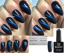 BLUESKY GEL POLISH CAT EYE BLUE MAGNETIC NAIL LED UV SOAK OFF,MAGNET REQD,2=FILE