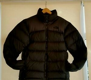 THE NORTH FACE 700 FILL GOOSE DOWN FILLED BLACK PUFFA JACKET , SIZE MEDIUM