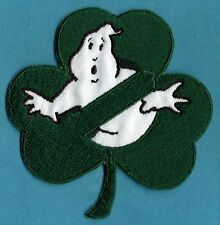 Irish Shamrock Style Embroidered Ghostbusters No Ghost Iron-on Patch