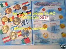 2012 8 monete fdc EURO VATICANO UNC Vatican Vatikan Benedetto XVI Benoit