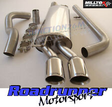 GOLF MK4 1.8 Turbo Milltek Exhaust Cat Back System Non Resonate Louder Twin GT80