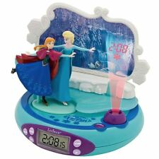 DISNEY FROZEN LEXIBOOK RADIO ALARM CLOCK PROJECTOR ANNA ELSA GIRLS BEDROOM