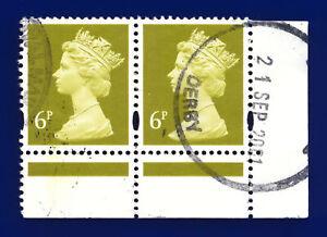 1991 SG X936 Yellow-Olive Corner Pair Dervy CDS 21 SEP 2001 Fine Used dgcv