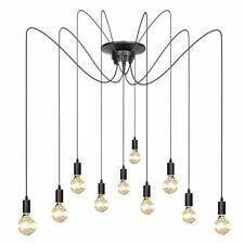 Edison Vintage Industrial Loft Spider Chandelier Pendant Ceiling Light Lamp DIY%