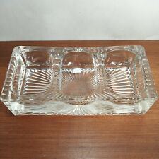 Antique Glass Desk Organizer / Paper Clip / Coin Holder