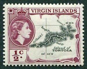 BRITISH VIRGIN ISLANDS 1956-62 SG149 QEII ½c. MAP OF TORTOLA  -  MNH