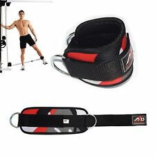 Gym Exercise Ankle Strap Weight Lifting Fitness D Ring Cable Attachment-Red Camo