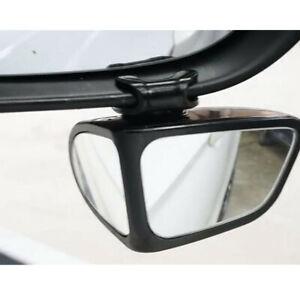 Car Co-pilot Convex Blind Spot Mirror 360° Rear View Mirror Parking Safety Black