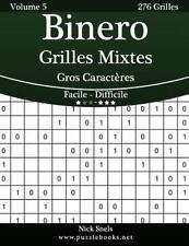 Binero: Binero Grilles Mixtes Gros Caractères - Facile à Difficile - Volume 5...