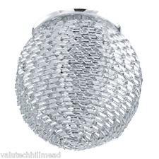 Eglo Tortoli 1 Light Semi-Flush Ceiling Light CHROME 11cm W x 11cm D