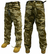 "48"" INCH BRITISH DESERT CAMOUFLAGE ARMY MILITARY CARGO COMBAT TROUSERS PANTS"