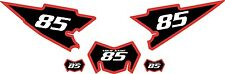 2008-2015 Yamaha WR250X Pre-Printed Black Backgrounds with Red Bold Pinstripe
