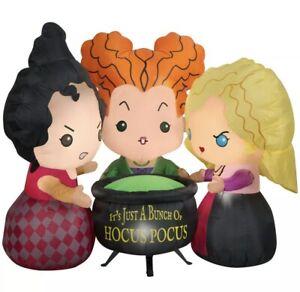 Disney Hocus Pocus Sanderson Sisters 4.5 ft Halloween Inflatable-Airblown New