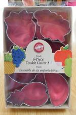 Wilton 6 Piece FRUIT Metal Cookie Cutters~New~Baking Apple Grapes