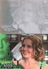 Buffy Season 5 Rare Cyan Printing Plate for Card  #78 Anya by inkworks