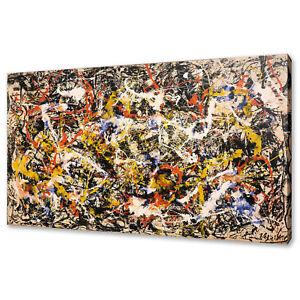 JACKSON POLLOCK CONVERGENCE CANVAS PICTURE PRINT MODERN WALL ART FREE UK P&P