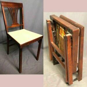 Leg O Matic Vintage Wood Folding Chair Camper RV Airstream Studio Made In USA