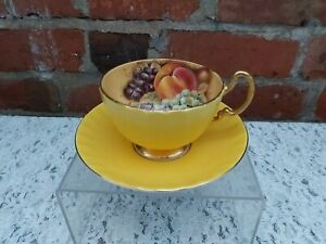 Aynsley Orchard gold yellow cup and saucer