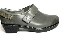 Women's Klogs Landing Clog Gray Grey Smooth Leather Size10 10M EUC