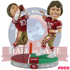 The Catch Joe Montana to Dwight Clark San Francisco 49ers Bobblehead NFL