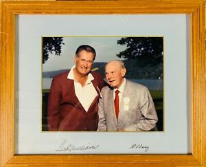TED WILLIAMS & BILL TERRY Signed Framed 11X14 Photo Display - JSA LOA
