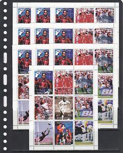 Women's soccer Football 1999 Kyrgyzstan MNH 9 v set perf X 10 Wholesale lot