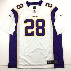 Nike Minnesota Vikings Mens Jersey Adrian Peterson #28 On Field NFL Football XL