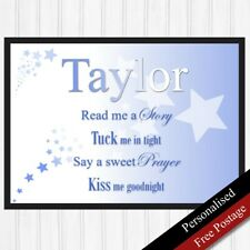 Baby Boys Birthday Gifts Personalised. Keepsake Gifts for Boys. PRINT ONLY
