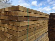 New Green Tanalised Garden Railway Sleepers 2.4 x 200 x 100