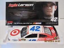 KYLE LARSON 2014 #42 TARGET NASCAR SALUTES AUTOGRAPH 1/24