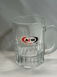"""Vintage A&W Root Beer Mini Baby Mug Oval Logo AW Original Authentic 3 1/8"""" Tall"""
