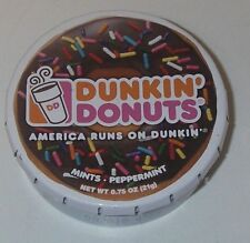 2016 Dunkin Donuts Mints Peppermint Chocolate Sprinkled Doughnut Lid Tin empty